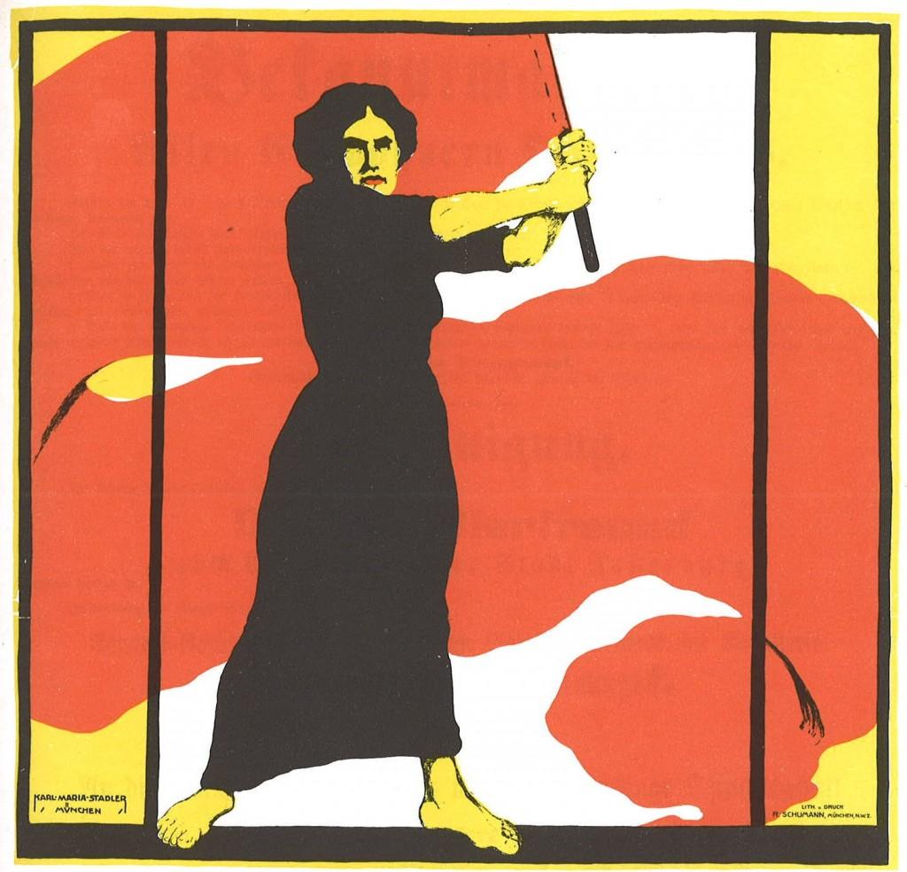 Heraus mit dem Frauenwahlrecht by Karl Maria Stadler – Wikipedia Commons
