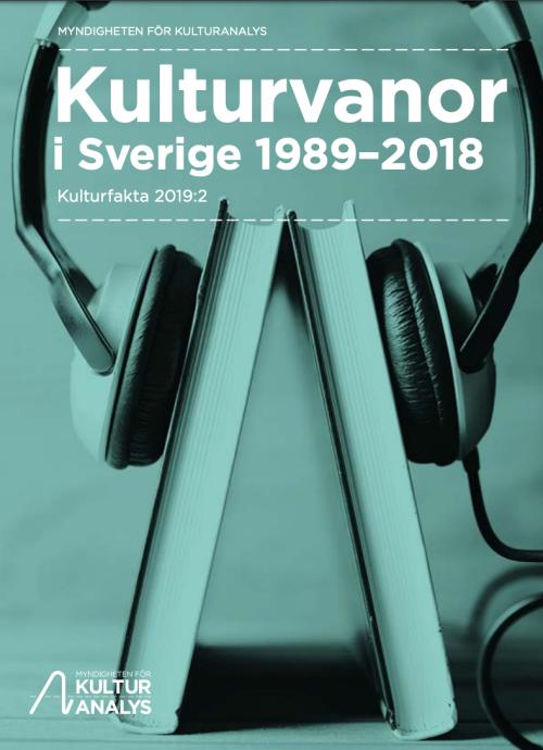 Omslag Kulturvanor i Sverige 1989-2018