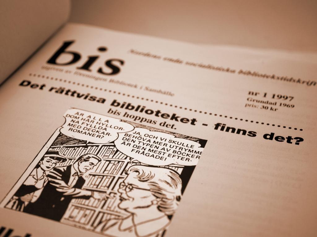 Ett tidigare 50-årsjubileum i BiS historia, det femtionde numret av tidskriften bis, 3/1979.